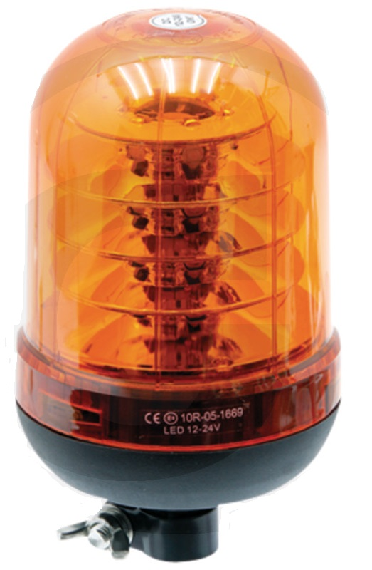 LED maják oranžový výstražný 12V/24V