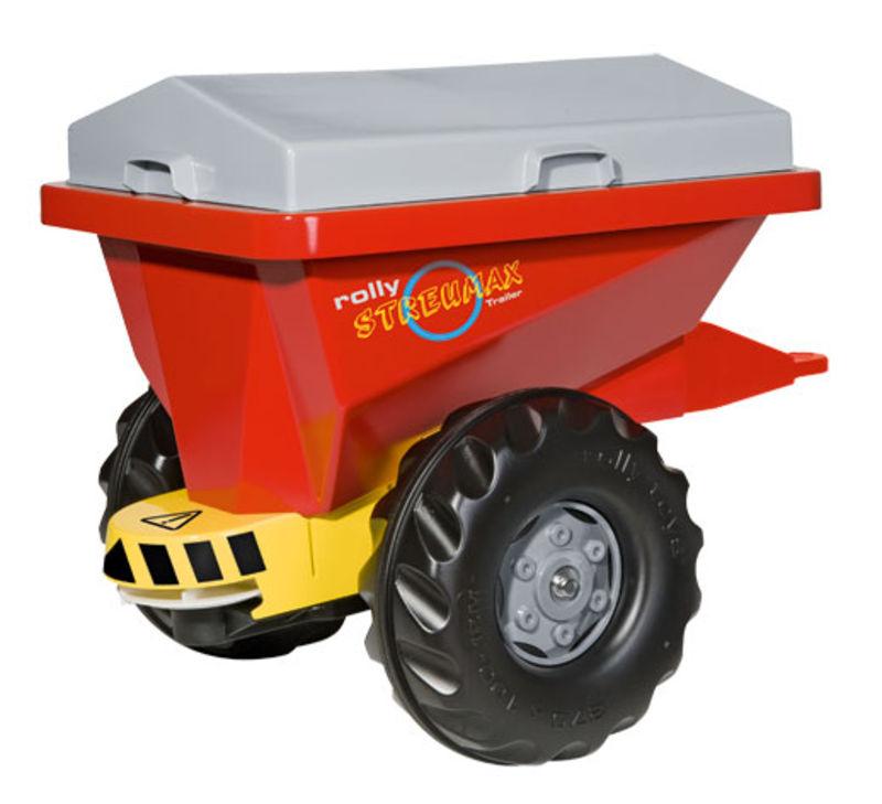 Rolly Toys - sklápěcí přívěs na stelivo za šlapací traktory a nakladače červeno-stříbrný