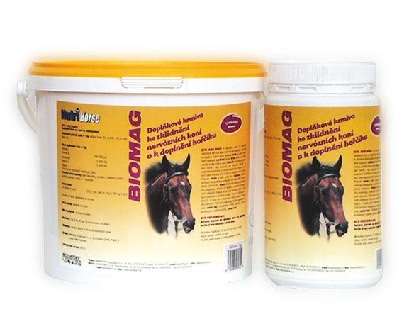 Nutri Horse Biomag 1kg doplňkové krmivo ke zklidnění nervózních koní