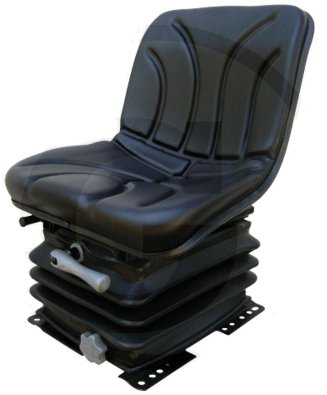 Traktorová sedačka Granit mechanické odpružení PVC potah šířka 390 mm