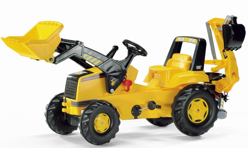 Rolly Toys - šlapací traktorbagr CAT modelová řada Rolly Junior