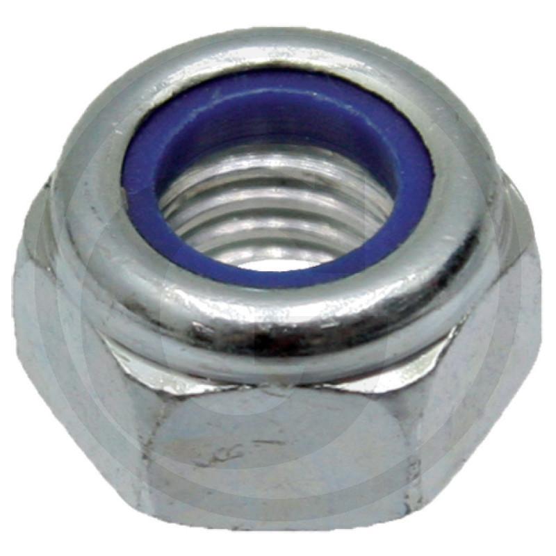 Samojistná matice M12 se svěrnou částí a plastovou vložkou DIN 985 ISO 10511