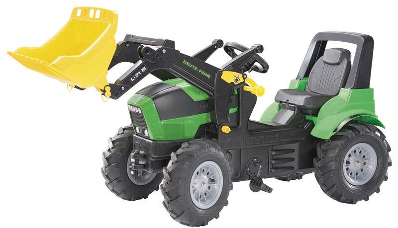 Rolly Toys - šlapací traktor s čelním nakladačem Deutz Agroton vzduchové neumatiky