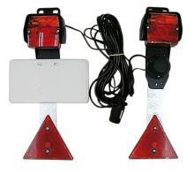 Koncová světla s tabulkou SPZ a odrazkami pro přívěsy, návěsy, přívěsné vozíky
