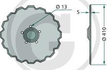 Výsevní disk secí botky vhodný pro Väderstad