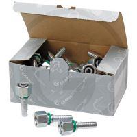 Metrické vsuvky k nalisování na hydraulické hadice 25 ks PN 10 DKOL M18x1.5 12L
