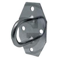 Plachtový třmen rovná deska se 4 otvory pro oka 40 a 42 x 22 mm světlost oka 30 mm