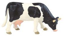Bullyland - figurka černobílá kráva pasoucí se
