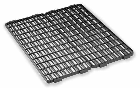 Plastová podlážka, rošt Gaun Duero černý do kotců pro králíky 610 x 505 mm