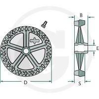 Kolo Crosskill pro Cambridge válce Lemken průměr 440 mm