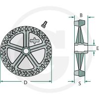 Kolo Crosskill pro válce Cambridge průměr 440 mm univerzální