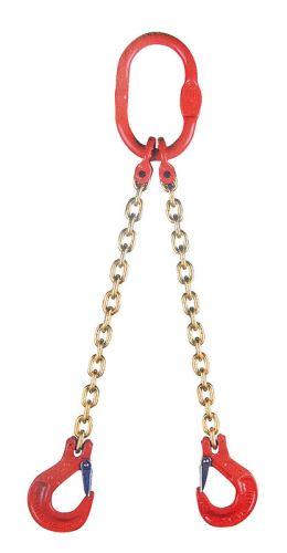 Jeřábový řetěz G8 dvoupramenný síla 10 mm délka 1 m s okem a háky