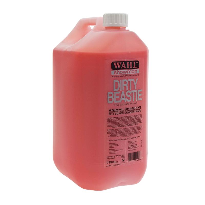 Šampón na psy WAHL Dirty Beastie koncentrát 32:1 s výtažky z broskve, hrušky a kiwi 5 l