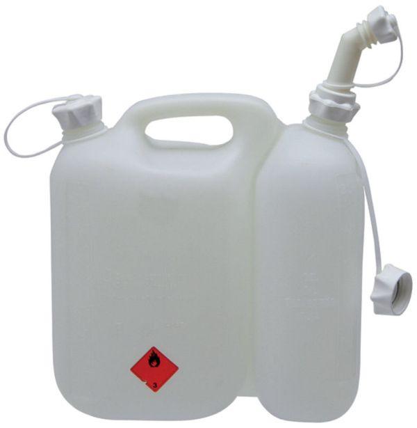 Kombinovaný kanystr na benzín a olej bílý