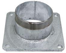"""Ocelová příruba 4"""" zinkovaná s vsuvkou na potrubí rozteč děr 150 x 150 mm"""