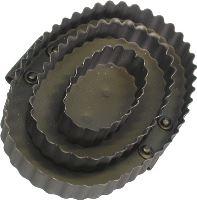 Hřebelec kovový oválný pro koně