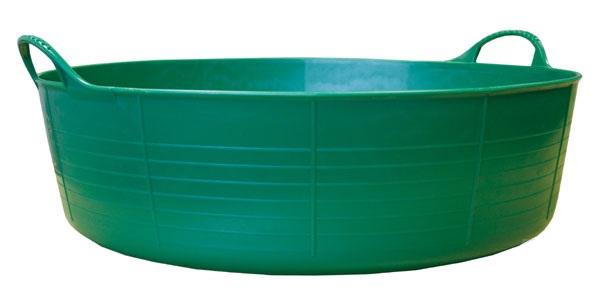 Tubtrug zelené plastové pružné velké mělké vědro 35 l