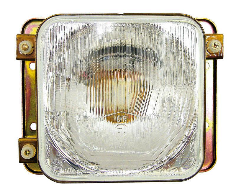 Levý i pravý čtvercový světlomet pro traktory Zetor různých typů