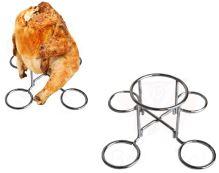 Nerezový stojan na opilé grilované kuře na plechovce piva BEEKETAL BT-BHH