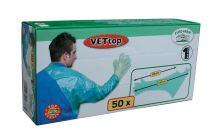 Veterinární vyšetřovací rukavice přes rameno 50 ks