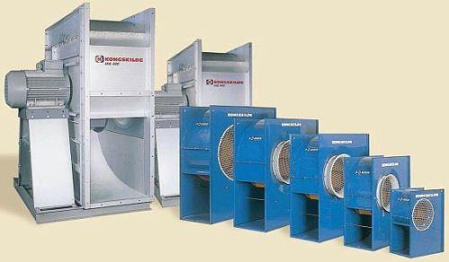 Nízkotlaký ventilátor HLV 250 Kongskilde - pozinkované provedení