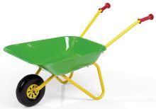 Kolečko plechové dětské zelené