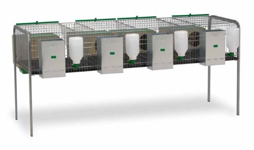Klecový kotec pro králíky Silleda se 4 kotci