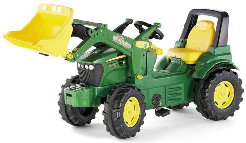 Rolly Toys - šlapací traktor John Deere 7930 s čelním nakladačem, vzduchovými pneumatikami