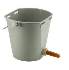 Napájecí kbelík s dudlíkem natural pro telata plastový 8 l