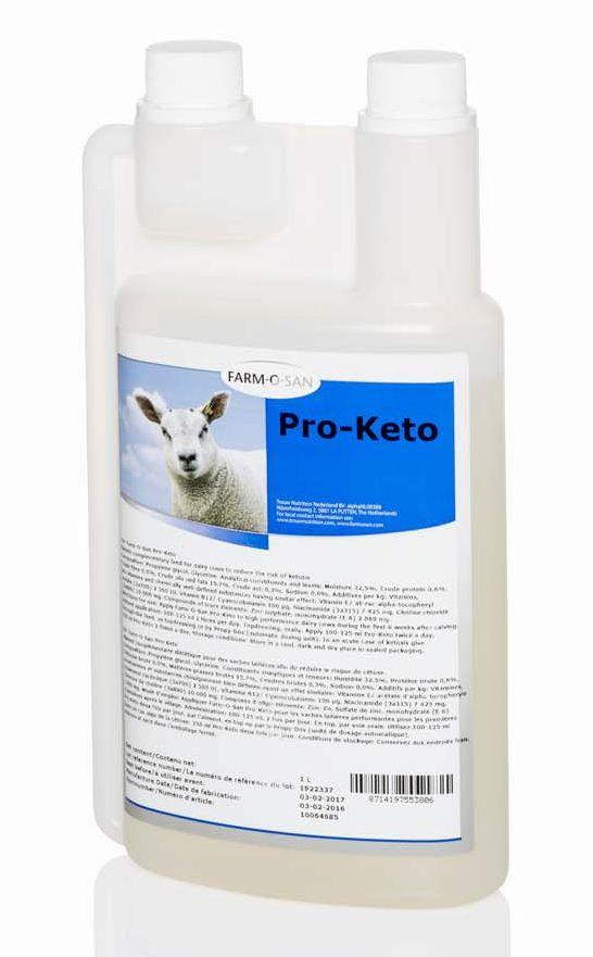 Farm-O-San Ewe Keto 1 l snižuje riziko výskytu ketózy ovcí a koz