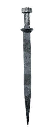 Hřeb do bran rovný 170 mm závit M12 x 40