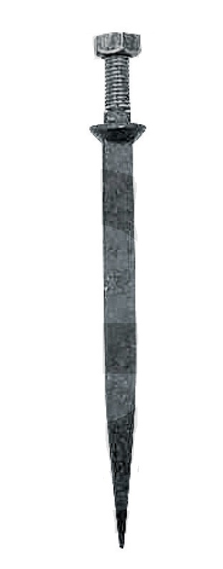 Hřeb do bran rovný 190 mm závit M16 x 45