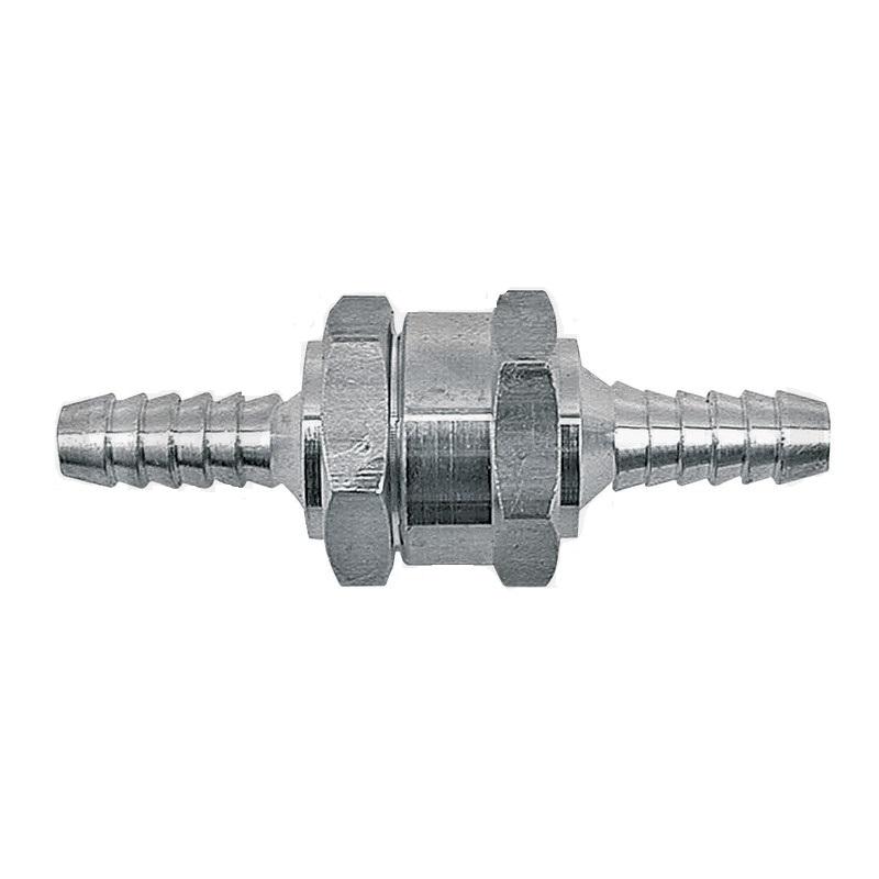 Zpětný ventil pro palivové hadice o průměru 10 mm průtokový odpor 0,25 bar při 120 l/h
