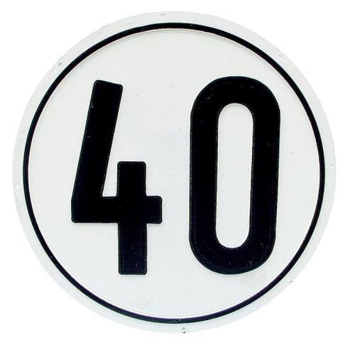 Tabulka pro přívěs samolepka 40 km/h