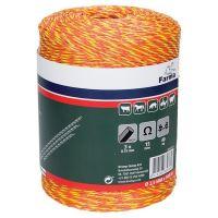 Klasický vodivý oranžovo-červený provázek FARMA 2,5 mm/500 m pro elektrický ohradník