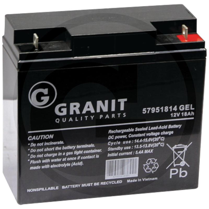 Bezúdržbová MF gelová baterie 12V 18Ah - + do zahradních sekaček Honda 182 x 75 x 167 mm