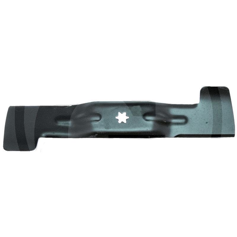 Nůž 470 mm vlevo hvězda 6 zubů pro zahradní sekačky Gutbrod, MTD, Oleo-Mac, Wolf, Yard Man