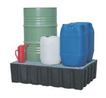 Sběrná vana 200 l s pozinkovaným mřížovým roštem na chemikálie, postřiky, oleje