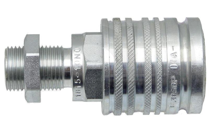 Hydraulická rychlospojka samice s přepážkou KM-S 18L (M26x1,5) DN12-BG3