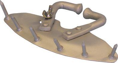 Mulcová zábrana hliníková s hřeby pro jalovice a dojnice
