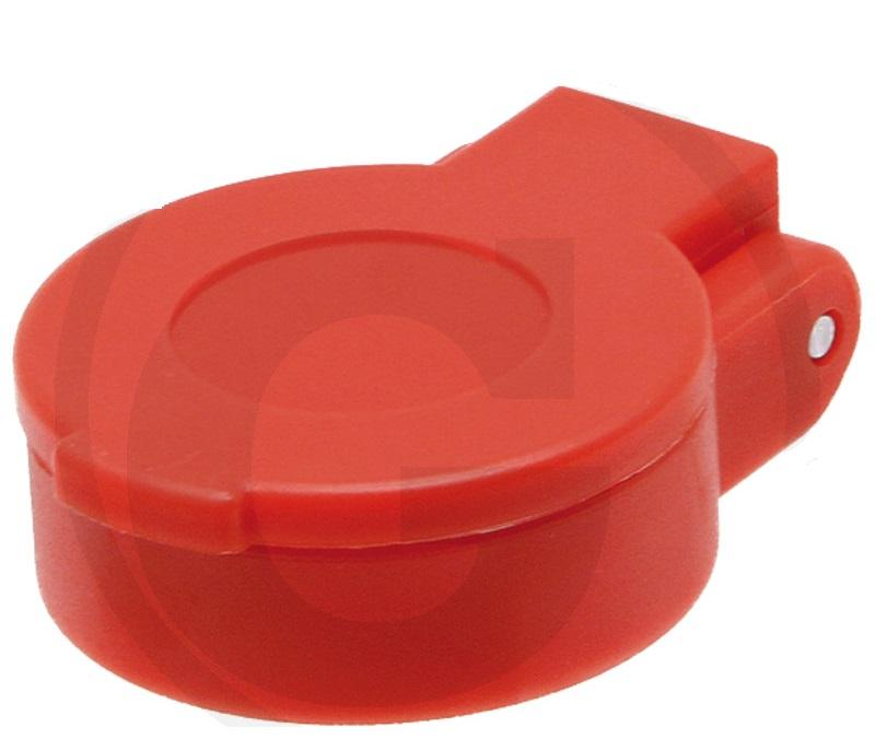Protiprachové víčko na hydraulickou rychlospojku samici KM DN12-BG3 červené