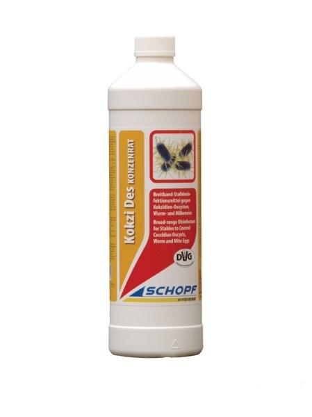 KOKZI DES koncentrát 1 kg dezinfekční prostředek proti endoparazitům, kokcidiím, oocystům