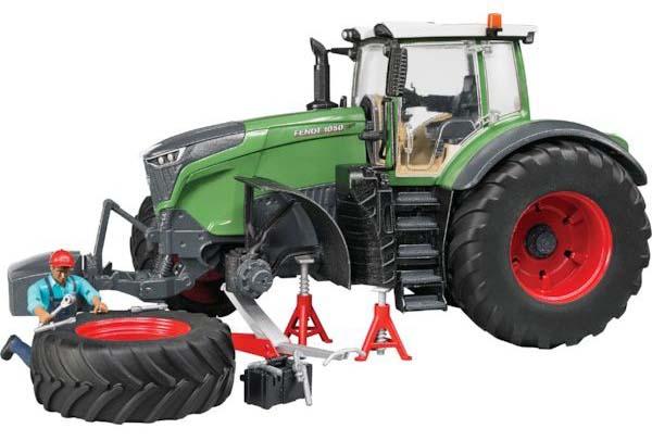 Bruder - traktor - Fendt 1050 Vario s mechanikem a vybavením dílny