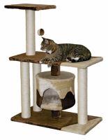 Odpočívadlo pro kočky JADE hnědo/béžové 70 x 35 x 96 cm