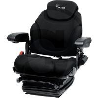 Traktorová sedačka Granit Super Komfort vzduchové odpružení 12 V látkový potah