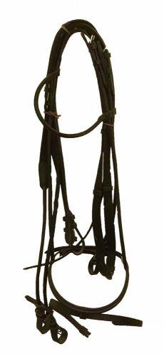 Uzdečka Lucky Horse kulatá černá na koně