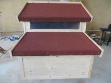Zateplený dřevěný kurník pro slepice Stříbro český truhlářský výrobek včetně košíků