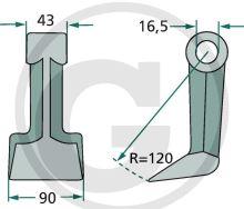 Mulčovací kladívko vhodné pro mulčovače Falc