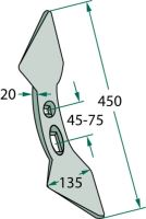 Dvojitá srdcovitá radlice standardní vhodná pro BBG, Rau, Vogel a Noot