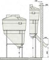 Plastový tubus průměr 200 mm s výsypkou pro silo na obilí, mouku, šrot, krmivo La GÉE